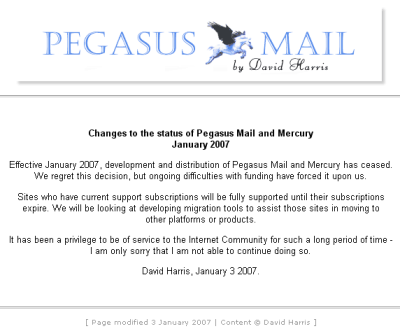 [screenshot of the Pegasus homepage]
