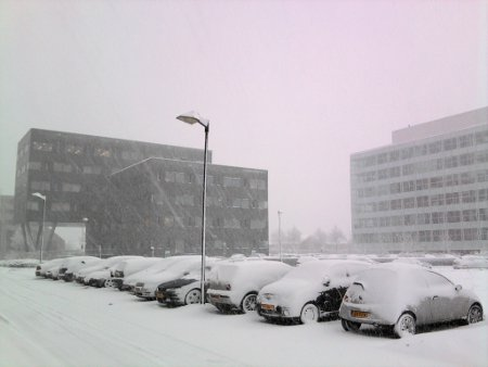 [photo of snowy cars]